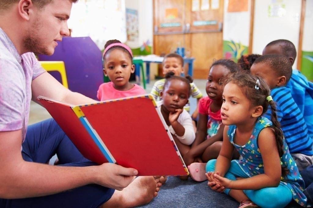 Preschool children learning to read